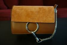 CHLOE Faye Small Leather Suede Crossbody Shoulder Bag Tobacco Brown NWT $1390