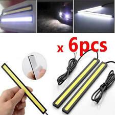 6Pcs 12V Waterproof White DRL COB LED Strip Light Bar For Caravan Boat Car