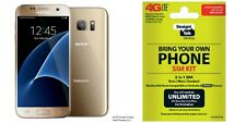 "Straight Talk/Verizon Samsung Galaxy S7 ""Gold"" 32GB Manufacturer Refurbished"
