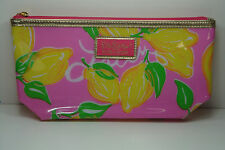 Lilly Pulitzer for Estee Lauder RARE Pink w/Lemons  Cosmetic Makeup Bag NEW