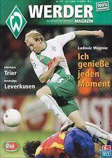 Werder Magazin + 09.11.2004 + Bremen vs. Eintracht Trier + Bayer Leverkusen +