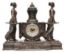 Baroque Style Clock - Two ladies carrying clock Statue Figurine 29cm (H)