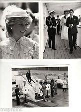 PRINCESS DIANA: 5 BLACK WHITE PHOTOS 1983 TRIP TO CANADA MARITIMES RARE