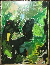 Carlo Pittore 1970 Abstract Painting with Collage Noted Maine & New York Artist