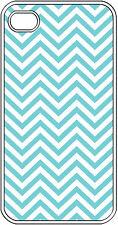 Chevron Aqua Blue Designed iPhone 4 4s Hard Clear Case Cover