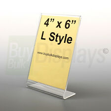 (12) 4x6 Acrylic Photo Frames, Picture Frames, Sign Holders, Made in USA