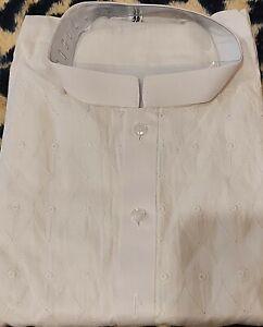 Boys chicken shalwar kameez white diamond shape embroidery all over kameez