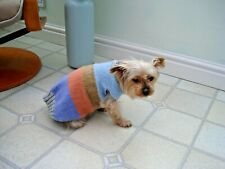 Striped Hand Knitted Dog Coat/Sweater/Jumper Small  5-6 kg New Other Colours