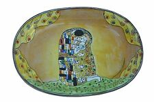 ART GIFTS Enamel Copper Hand Painted Small Soap Dish Plate Tray KISS by Klimt