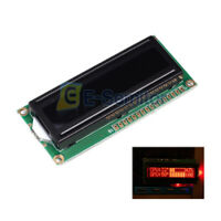 5V 162 1602A LCD Display Module Red 16x2 Dot Matrix Characters Black Background