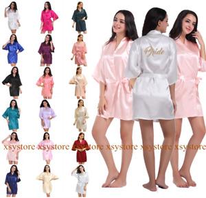UK New Personalized Wedding Robe Bridesmaid Bride Mother Sleepwear Dressing Gown