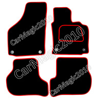 VW GOLF MK5 CAR FLOOR MATS 2004-2007 OVAL CLIPS - RED