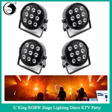 120W U`king 4PCS 9LED Stage Lighting RGBW Beam Hight Par Can DMX512 Bar Party DJ