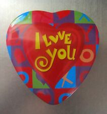 Tin HEART Trinket BOX for Candy, Jewelry, Toys etc I LOVE YOU