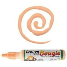 Crayon pour décoration de bougie 30ml - Cire liquide - orange