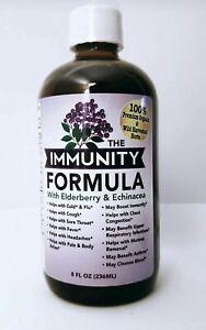 "Immune Formula Tonic with Organic ""Elderberry"" and *Echinacea*, 8 Ounces"