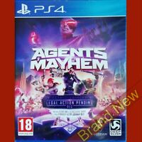 AGENTS OF MAYHEM - PlayStation 4 PS4 ~ Brand New & Sealed