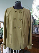 CUTE SHORT YELLOW GREEN MOSSIMO COAT SIZE XL PERFECT