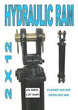 "Hydraulic Ram/Cylinder 2"" Bore X 12"" Stroke ..KC2012 Clevis End Design"