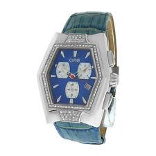 Men's Unisex GAB Chronograph Date Swiss Diamonds Movement Steel Quartz Watch