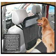 Auto Car Pet Barrier With Storage Pockets Blocks dog's access to front seat Dog