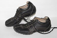 Skechers Citywalk Casual Oxford, #60488EW, Black, Leather, Mens US Size 8 XWide