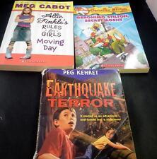 Lot 3 Books Scholastic Paperbacks Geronimo Stilton Earthquake Terror Allie