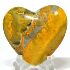 40mm Bumble Bee Jasper Heart Natural Sparkling Mineral Polished Crystal Indones.