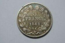 5 FRANCS LOUIS PHILIPPE 1845 A TTB
