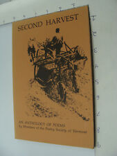 SECOND HARVEST - anthology of poems VERMONT - 1982 -- 106pgs