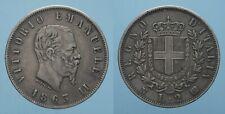 REGNO D'ITALIA VITT. EMAN. II 2 LIRE 1863 NAPOLI bel BB
