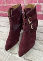 Anthropologie Huma Blanco Hilda Ankle Boot in Wine Size 39 / US 8.5