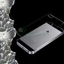 Pellicola VETRO 0.3mm POSTERIORE sottile trasparente p iPhone 5 5S SE protezione