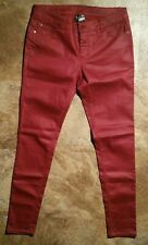 Bisou Bisou Red Coated Skinny Jeans - Size 8