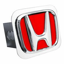 """Honda Red and Chrome Stainless Steel 2"""" Trailer Tow Hitch Cover"""