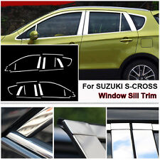 Full Window Middle Pillar Molding Sill Trim Stainless Steel For Suzuki S-CROSS
