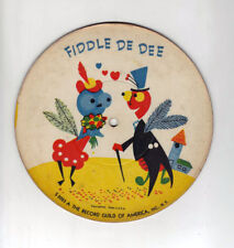 Jack and Jill / Fiddle De Dee - late 1940's with color art on each side