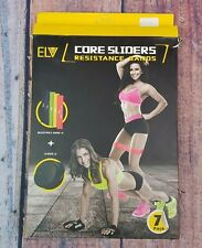 ELV Resistance Loop Bands and Exercise Sliders Elastic Bands 2 Gliding Discs