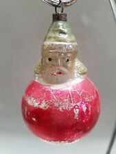 "ANTIQUE MERCURY GLASS CHRISTMAS ORNAMENT - SANTA IN A BALL - 3"""
