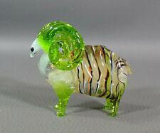 Vtg Italian Murano Blown Glass Ram Animal Aries Zodiac Star Sign Figurine Figure