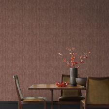 Boutique Devore Burgundy Metallic Plain Wallpaper