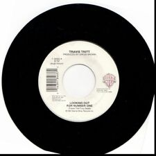 TRAVIS TRITT LOOKING OUT FOR NUMBER ONE/BLUE COLLAR MAN 45RPM VINYL