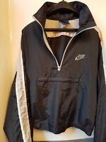 VINTAGE 80s NIKE Windbreaker zip pullover men Medium rare