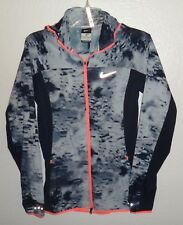 NEW WOMENS XS NIKE PRINTED TRAIL KIGER PACKABLE RUNNING ATHLETIC JACKET HOODED