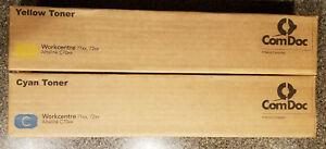 2 Genuine Xerox Print Toner Cartridge Workcentre 7120,7125,7220,7225 Cyan/Yellow