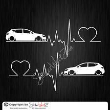 0657 | Herzschlag Seat Leon 5F Satz Aufkleber | Sticker