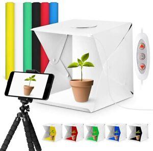 40cm LED Light Box Photography Photo Studio Portable Tent Backdrop Lighting Cube