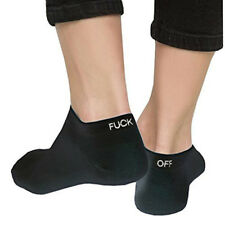Fuck-Off Letters Women Men Ankle Socks Cotton Novelty Comfortable Hosiery Newly