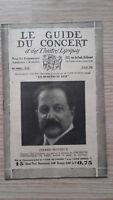 El Guía de La Concierto Y Las Teatro Letra - Piedra Monteux - N º 27-1929