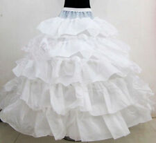 Krinoline Weiß TÜLLROCK Petticoat 5-lagig 4 Ringe Unterrock Reifrock kathedrale